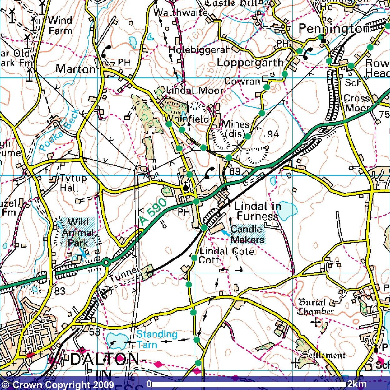 os map of lindal marton